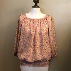 Like New-MODA International-Silk Blouse 3/4 sleeve